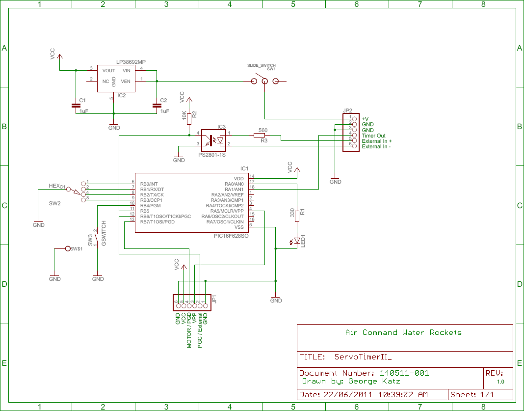 air command water rockets servo timer ii circuit diagram